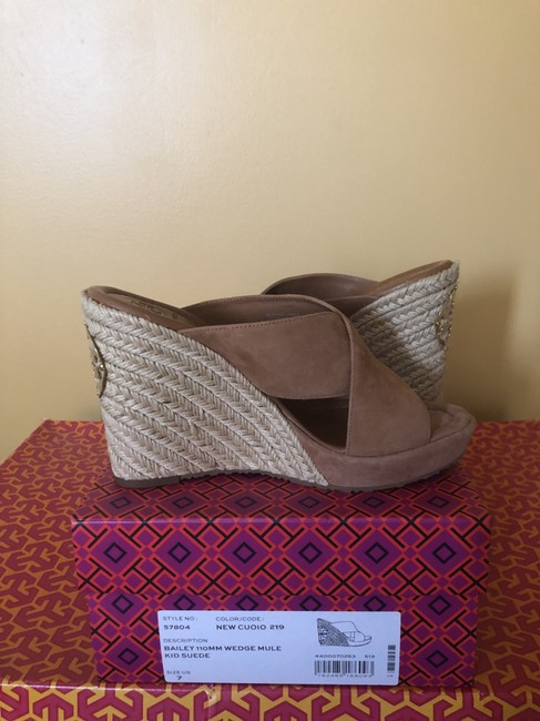 Tory Burch New Cuoio 219/ Light Brown 57804 Mules/Slides Size US 7 Regular (M, B) Tory Burch New Cuoio 219/ Light Brown 57804 Mules/Slides Size US 7 Regular (M, B) Image 2