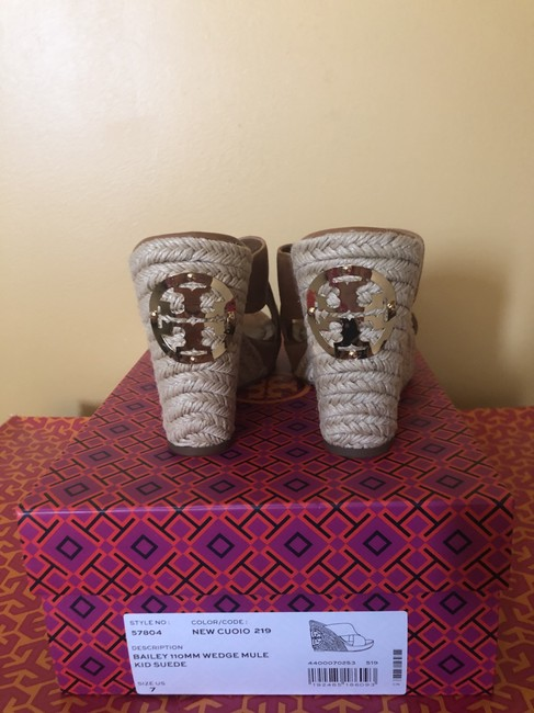 Tory Burch New Cuoio 219/ Light Brown 57804 Mules/Slides Size US 7 Regular (M, B) Tory Burch New Cuoio 219/ Light Brown 57804 Mules/Slides Size US 7 Regular (M, B) Image 3