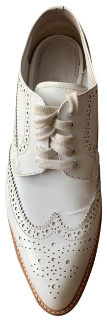 Item - White Leather Platform Oxford Sneakers Size EU 37.5 (Approx. US 7.5) Regular (M, B)