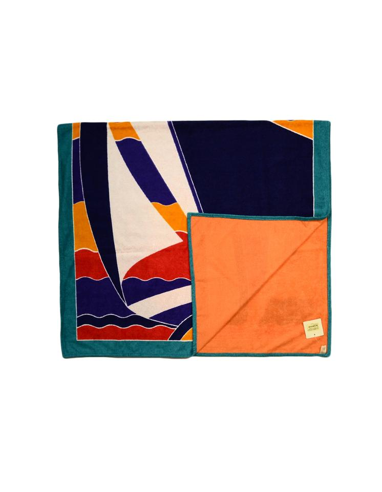 Hermes Multi Color Bleu Outremer Tapis Nomade La Regate Cotton