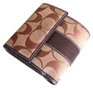Coach Brown Coach Signature Bifold Wallet