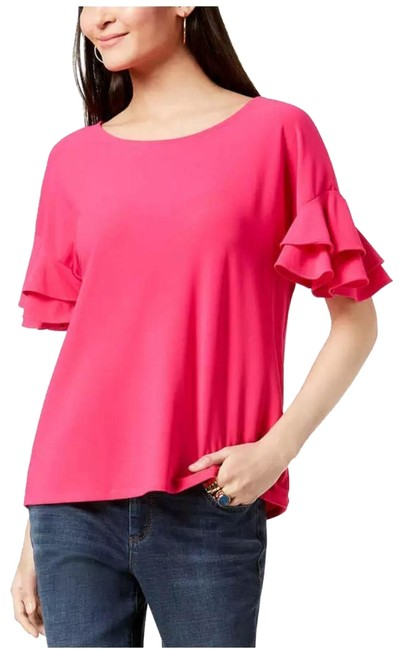 Item - Pink Ruffled Sleeves Blouse Size 22 (Plus 2x)