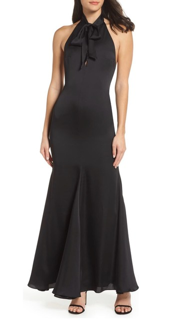 Fame and Partners Black The Ace Trumpet Gown Long Formal Dress Size 8 (M) Fame and Partners Black The Ace Trumpet Gown Long Formal Dress Size 8 (M) Image 1