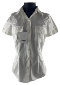 blugirl Nylon Shirt Button Down Shirt white