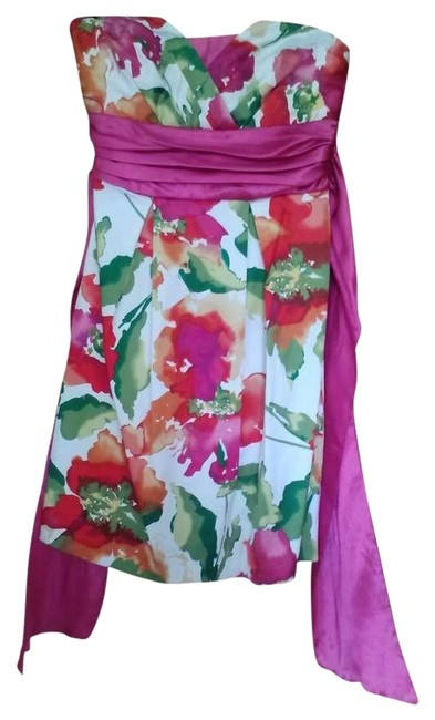 Preload https://item3.tradesy.com/images/trixxi-magenta-green-red-and-white-mini-night-out-dress-size-6-s-263442-0-0.jpg?width=400&height=650