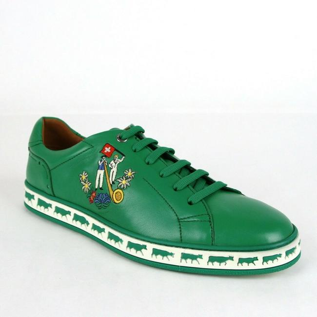 Item - Dark Emerald Green Low-top Sneakers Animal Collection Us 8/Eu 7 Shoes