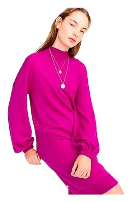 Item - Purple Universal Standard For Mock Neck Long Sleeve Sweater Mid-length Short Casual Dress Size 16 (XL, Plus 0x)