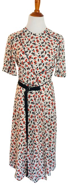 Item - White Floral Ditsy Midi Mid-length Casual Maxi Dress Size 6 (S)