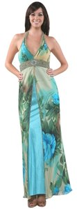 Sue Wong Silk Chiffon Beaded Gown Dress
