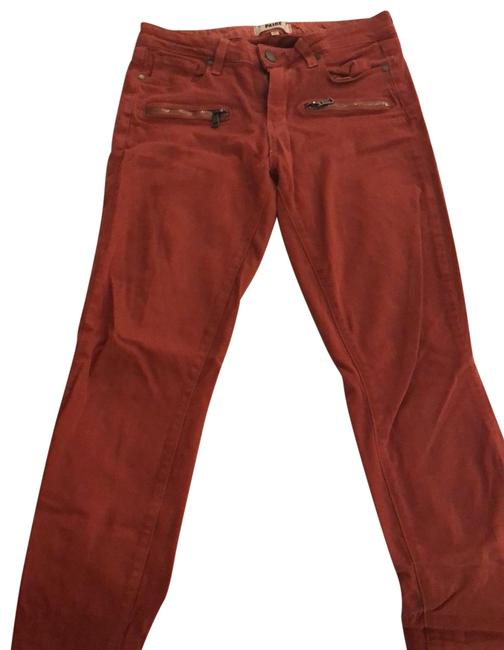 Item - Rust/Burnt Orange Orangeskinny Skinny Jeans Size 6 (S, 28)