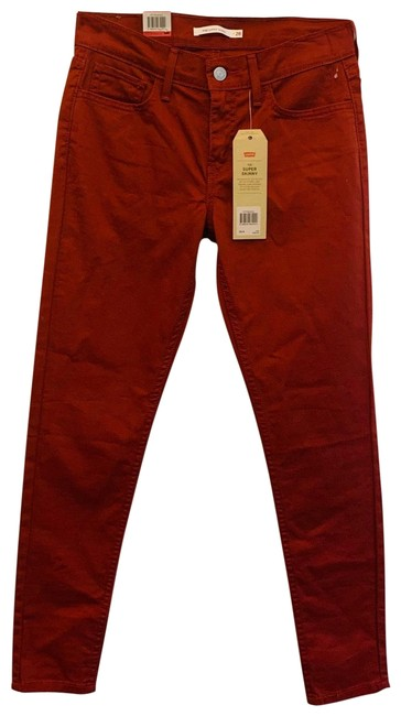 Item - Russet Brown 710 Super Mid Rise Jeans/Sz:28/Nwt Skinny Jeans Size 6 (S, 28)