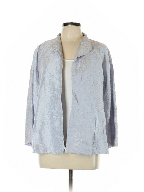 Eileen Fisher India Sky Blue Silk Cardigan Size Petite 14 (L) Eileen Fisher India Sky Blue Silk Cardigan Size Petite 14 (L) Image 1