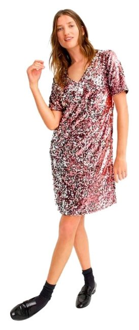 Item - Pink Universal Standard For Sequin Shift Short Casual Dress Size 16 (XL, Plus 0x)