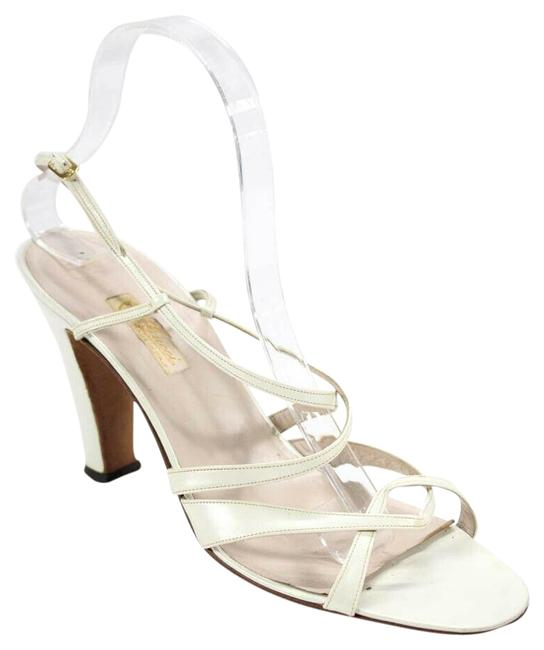 Item - Ivory Leather Vintage Early Mod Sandals Size EU 40 (Approx. US 10) Regular (M, B)