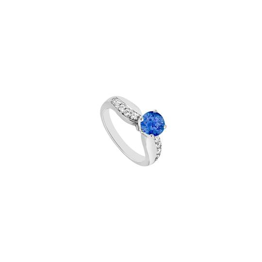 Preload https://img-static.tradesy.com/item/26346285/blue-engagement-diffuse-sapphire-and-cubic-zirconia-in-14k-white-gold-ring-0-0-540-540.jpg