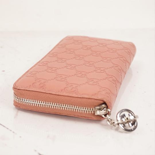 Gucci Gucci Guccissima 233025 Women's Leather Long Wallet (bi-fold) Pink Image 1
