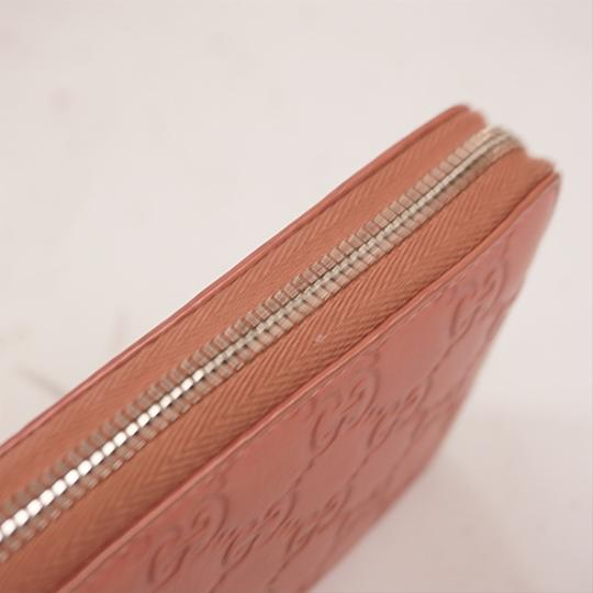 Gucci Gucci Guccissima 233025 Women's Leather Long Wallet (bi-fold) Pink Image 5