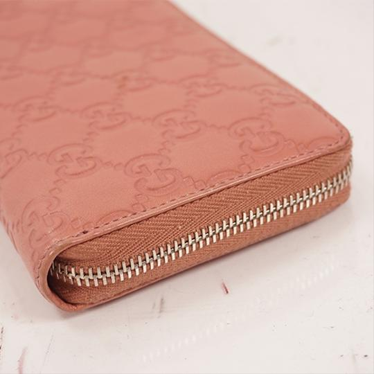 Gucci Gucci Guccissima 233025 Women's Leather Long Wallet (bi-fold) Pink Image 6
