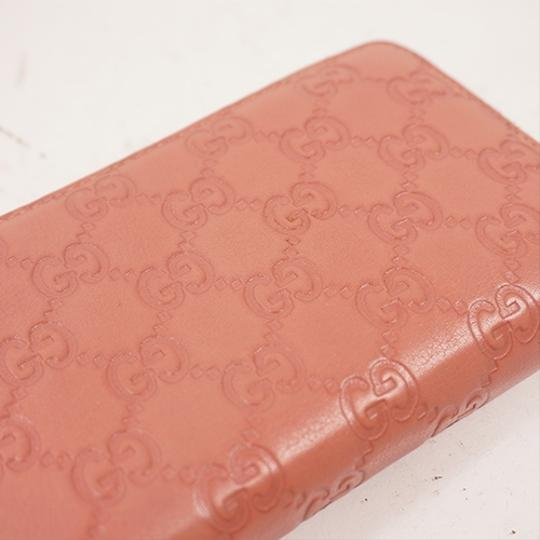 Gucci Gucci Guccissima 233025 Women's Leather Long Wallet (bi-fold) Pink Image 7