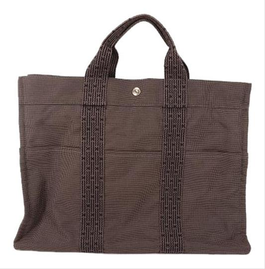 Preload https://img-static.tradesy.com/item/26346329/hermes-tote-bag-her-line-handbag-gray-canvas-0-2-540-540.jpg