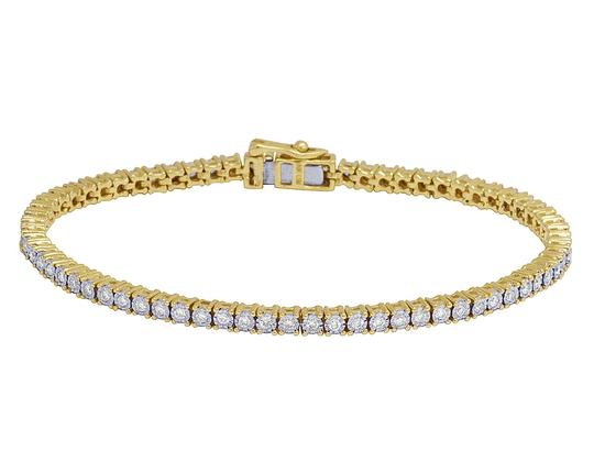 Preload https://img-static.tradesy.com/item/26346368/jewelry-unlimited-10k-yellow-gold-tennis-2-pointer-illusion-set-diamond-1ct-bracelet-0-0-540-540.jpg