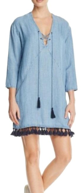Rails Blue Alicia Chambray Short Casual Dress Size 4 (S) Rails Blue Alicia Chambray Short Casual Dress Size 4 (S) Image 1
