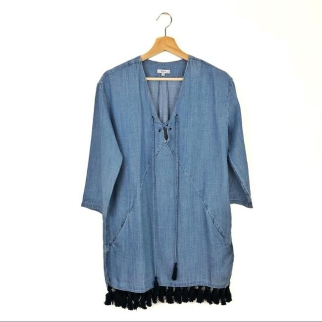 Rails Blue Alicia Chambray Short Casual Dress Size 4 (S) Rails Blue Alicia Chambray Short Casual Dress Size 4 (S) Image 3