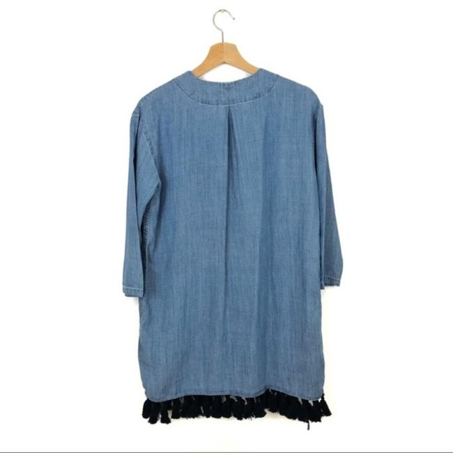 Rails Blue Alicia Chambray Short Casual Dress Size 4 (S) Rails Blue Alicia Chambray Short Casual Dress Size 4 (S) Image 4