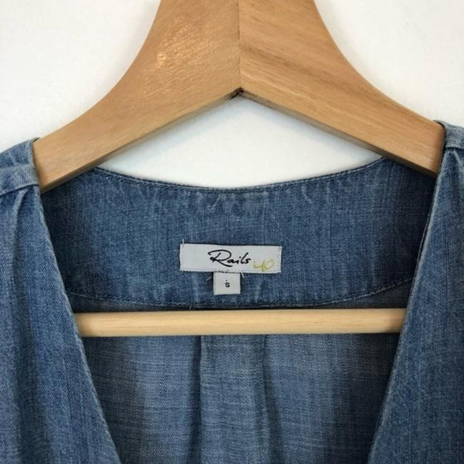 Rails Blue Alicia Chambray Short Casual Dress Size 4 (S) Rails Blue Alicia Chambray Short Casual Dress Size 4 (S) Image 5