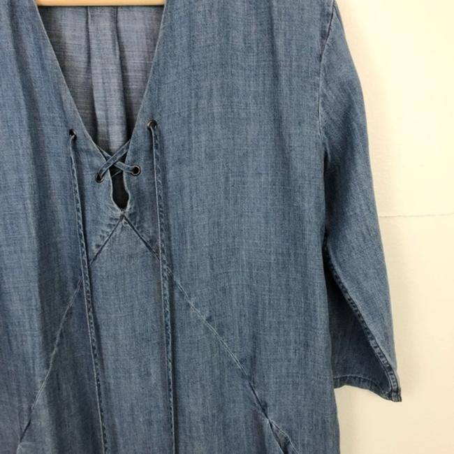 Rails Blue Alicia Chambray Short Casual Dress Size 4 (S) Rails Blue Alicia Chambray Short Casual Dress Size 4 (S) Image 8