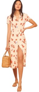 cream, red Maxi Dress by Reformation