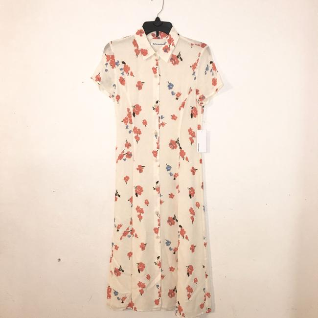 cream, red Maxi Dress by Reformation Image 3