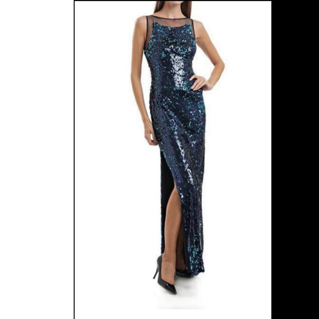 Preload https://item2.tradesy.com/images/js-collections-navy-sequin-illusion-mesh-long-cocktail-dress-size-0-xs-26346506-0-1.jpg?width=400&height=650