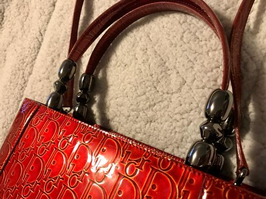 Dior Satchel in Red Image 3