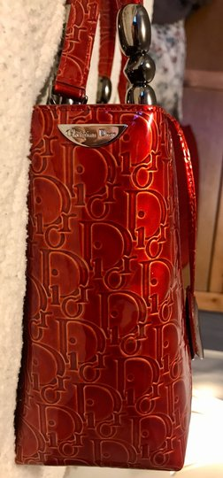 Dior Satchel in Red Image 5