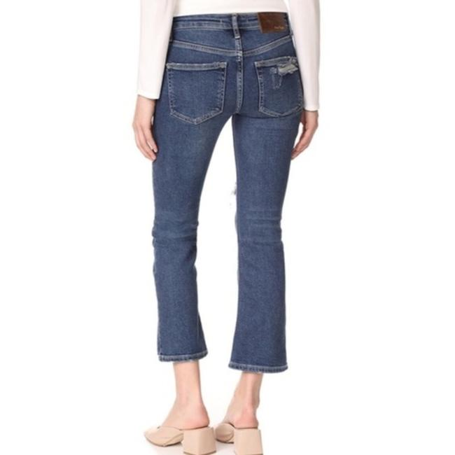 Free People Cropped Color-blocking High Rise High Waist Flare Leg Jeans-Medium Wash Image 2