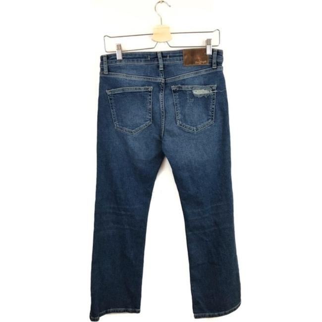 Free People Cropped Color-blocking High Rise High Waist Flare Leg Jeans-Medium Wash Image 4