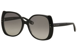 Gucci Gucci Women's Gucci Logo GG0472S GG/0472/S 001 Black Sunglasses 56mm