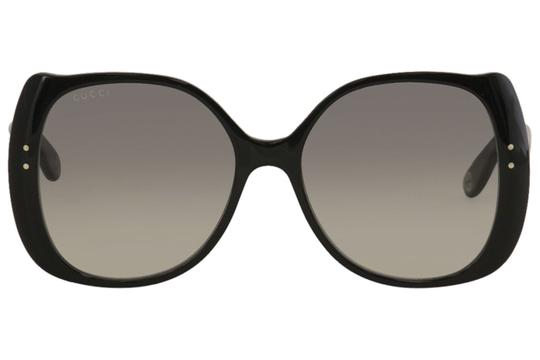 Gucci Gucci Women's Gucci Logo GG0472S GG/0472/S 001 Black Sunglasses 56mm Image 1