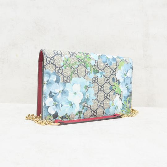 GUCCI Bloom Canvas Wallet On Chain Shoulder Bag Image 3