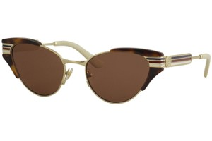 Gucci Gucci Women's Web GG0522S GG/0522/S 002 Havana/Gold Sunglasses 55mm