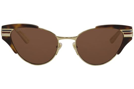 Gucci Gucci Women's Web GG0522S GG/0522/S 002 Havana/Gold Sunglasses 55mm Image 1