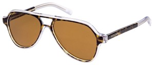 Dolce&Gabbana ANGEL DG 4355 Crystal Havana Brown Aviator Sunglasses DG4355S