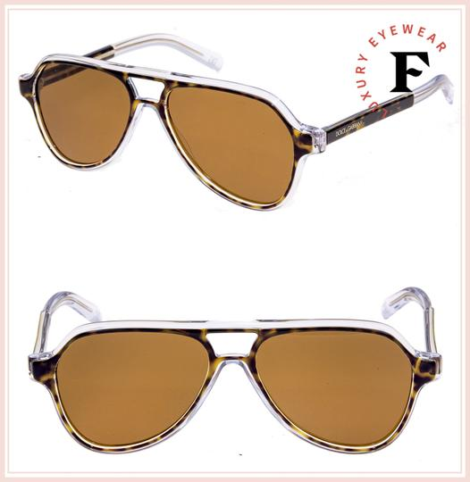 Dolce&Gabbana ANGEL DG 4355 Crystal Havana Brown Aviator Sunglasses DG4355S Image 1
