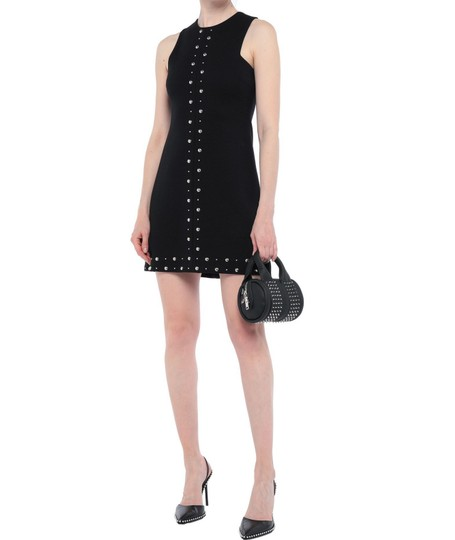 Alexander Wang Date Night Night Out Party Hollywood Studded Satchel in Black Image 2