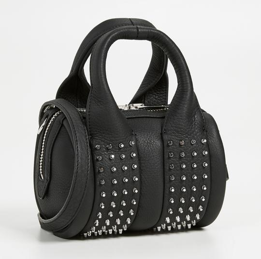 Alexander Wang Date Night Night Out Party Hollywood Studded Satchel in Black Image 3
