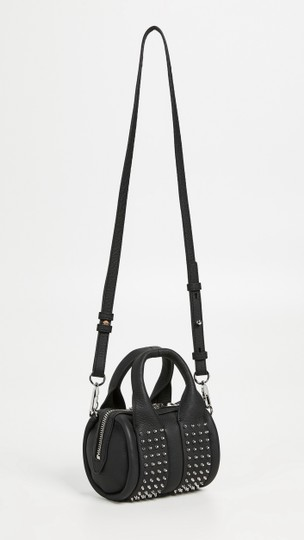 Alexander Wang Date Night Night Out Party Hollywood Studded Satchel in Black Image 4
