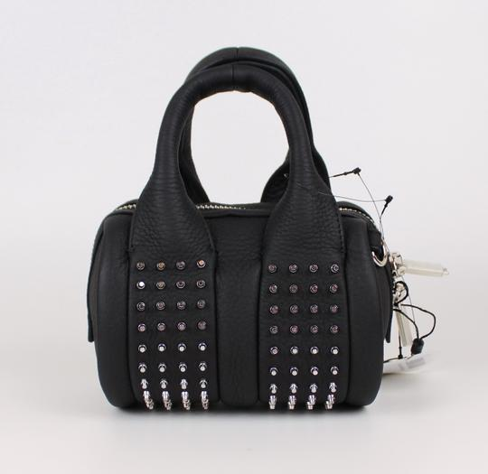 Alexander Wang Date Night Night Out Party Hollywood Studded Satchel in Black Image 5