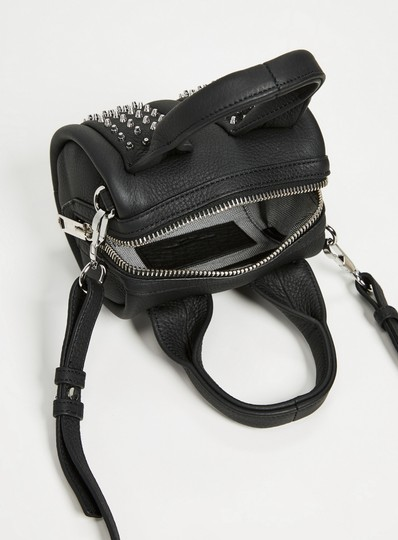 Alexander Wang Date Night Night Out Party Hollywood Studded Satchel in Black Image 6