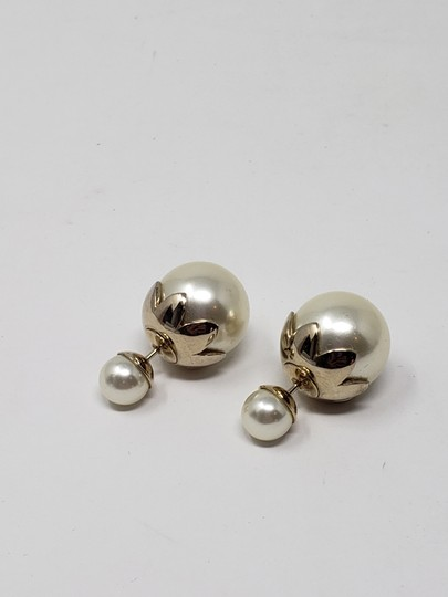 Christian Dior Faux pearl Christian Dior Tribales earrings Image 3